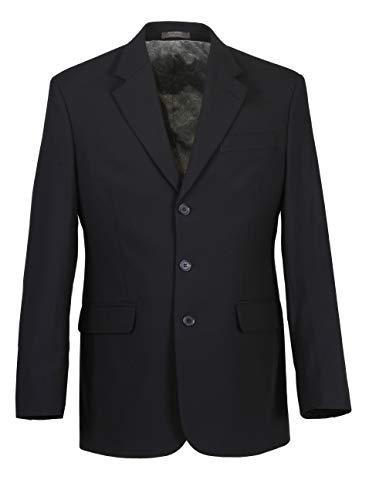 Herren Sakko DREI-Knopf klassisch Reverskragen Blazer Jackett Anzug Regular Fit bequem, Größe 52, dunkelblau