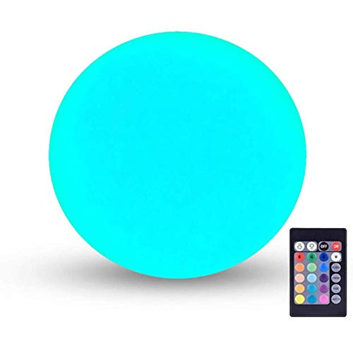 LOFTEK LED Vibrant Light Ball: 6-inch Nursery Night Light with Remote and Press Control, 16 RGB Color Changing & Dimming Rechargeable, Cordless Portable Floating Pool Lights, Ideal for Kids or Decor