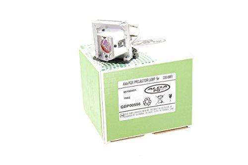 Alda PQ-Premium, Beamerlampe / Ersatzlampe kompatibel mit 330-6581, 725-10229, KFV6M für Dell 1510X, 1610HD, 1610X Projektoren, Lampe mit Gehäuse