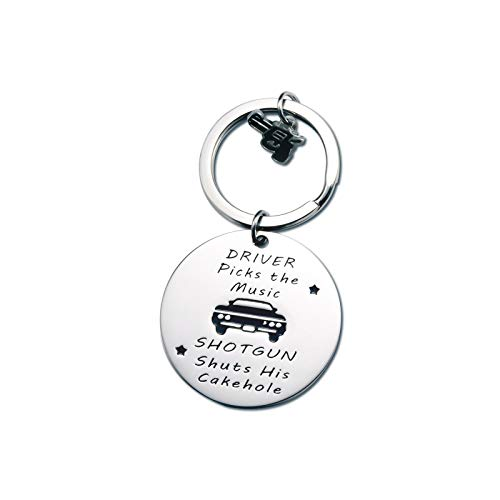 GBTBYS Driver Picks The Music Keychain Supernatural Keychains for Women Man Gamer Lover Couple Funny Gift for Boyfriend Girlfriend Husband Wife