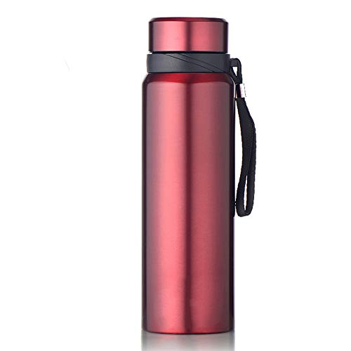 Botella de Agua Aislada Frasco de vacío térmico de doble...