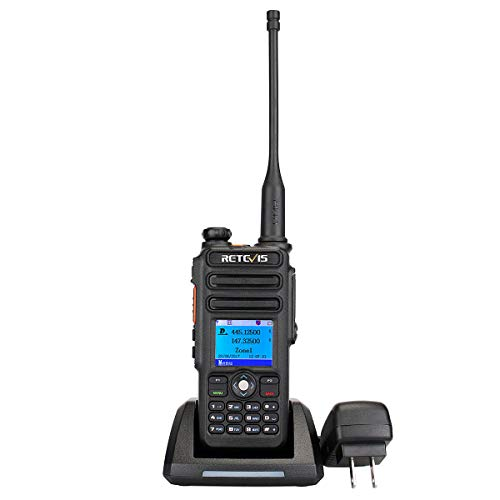 Retevis RT82 DMR Radio,GPS Dual Band Waterproof IP67 Digital 2 Way Radio,Group Call Record SMS Alarm 3000 Ch 10000 Contacts (1 Pack)