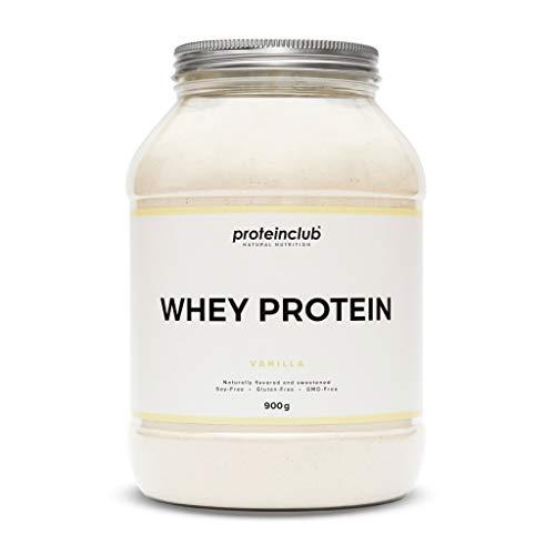 proteinclub Natural Whey Protein ohne Zusatzstoffe - Natürliches Eiweißpulver ohne künstliche Aromen & Süßstoffe - Mit Stevia gesüßt - Sojafrei - Made in Germany - Vanille - 900g