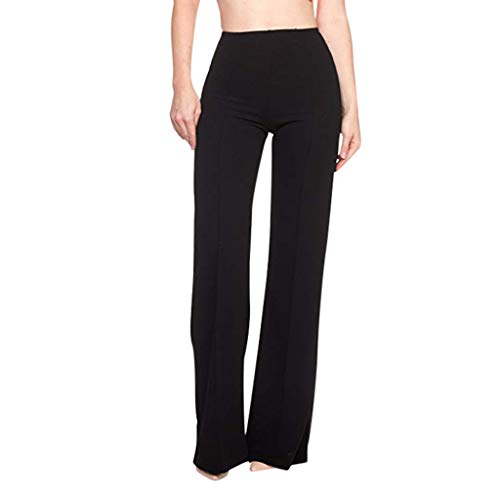Zarupeng High Waist brede broek slim fit business pak broek vrijetijdsbroek effen breed been lange broeken stoffen broek palazzo broek