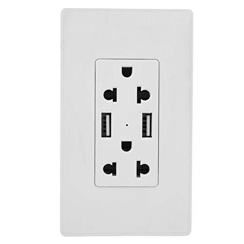 USB 2.1A 125V 15A Wandsteckdose, automatische intelligente Wandsteckdose, für den gewerblichen Heimgebrauch(2 pieces)