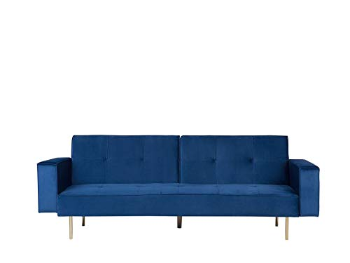 Beliani VISNES - Slaapbank - Blauw