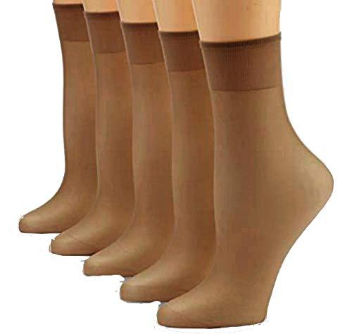 FussFre&e 10 Paar Feinsöckchen, Fein-Socken, 30 den 33 dtex=30 den (Perle, One Size)
