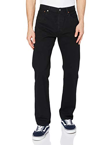 Levi's Herren 501 Original Fit Straight Jeans, Schwarz (Black), 36W / 34L