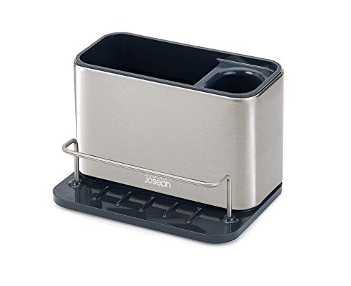 Joseph Joseph 85112 Surface Sink Caddy Stainless Steel Sponge Holder Organizer Tidy Drains Water for...