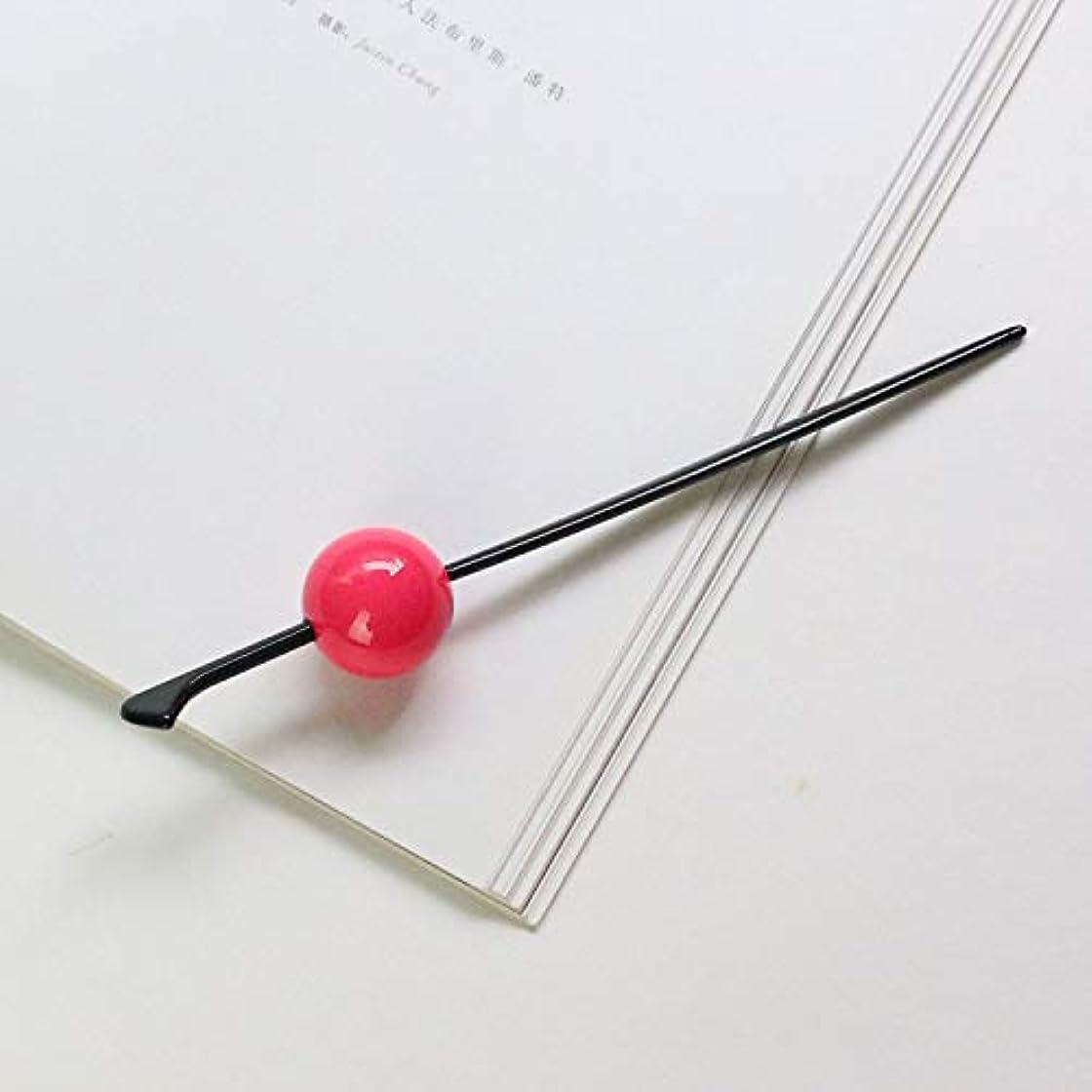 空中燃やす矢HuaQingPiJu-JP キャンディーカラーヘアクリップヘアピンガールヘアアクセサリー(ピンク)