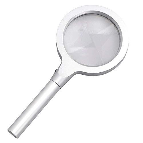 HONGHONG Lente grande de mano HD HD Lupa de lupa Lámpara LED 10x HD 20x Lectura antigua Relojes Hombres de expansión portátil Espejo de expansión de cristal de lupa | Código de productos: LJW-750