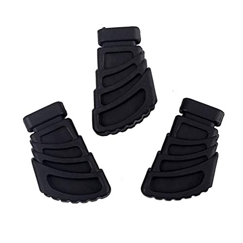 HEALLILY drum gummifüße für drum hardware beckenständer rack halterung schlagzeug teile größe l 3 stücke (schwarz)