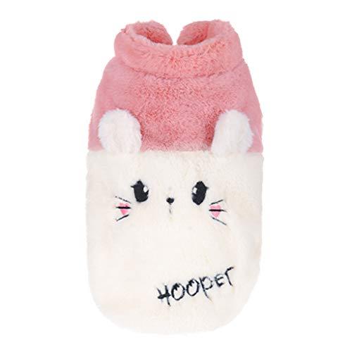 BURFLY Haustier Hund Shirt Reine Farbe Kaschmir Plüsch Warmer Mantel Haustiere Katze Warme Kleidung Pink/Grau Mode Casual S-2XL Haustierkleidung