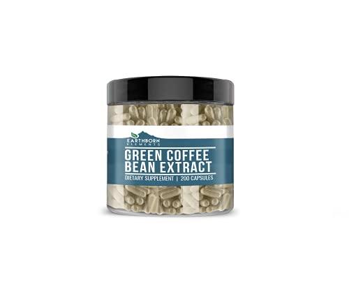 Green Coffee Bean Extract (200 Capsules) with GCA, Non-Stimulant, Lab-Tested, Gluten-Free & Non-GMO