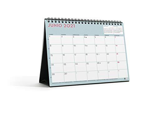 MIQUELRIUS - Calendario de Sobremesa 2021 Lovely Con Adhesivos - Español, A5 210 x 148,5 mm con...