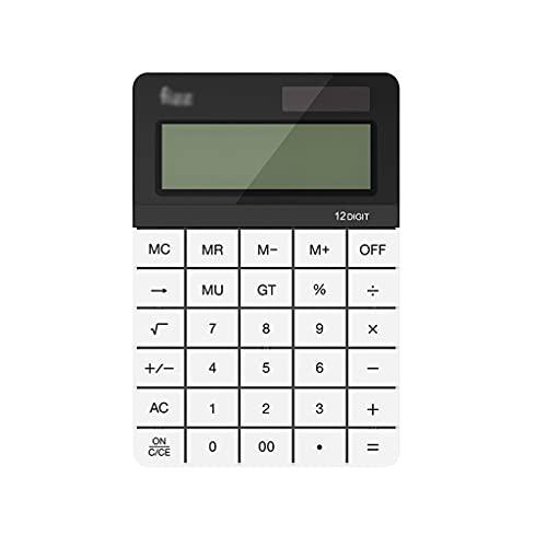 LEGU calculadoras Calculadora Dual Power FUTETE FUNCIÓN ESTÁNDAR CALCULADORES DE MENDATULADORES DE MENDADERA DE 12 DIGITES Pantalla LCD Calculadoras Básicas (Color : White)