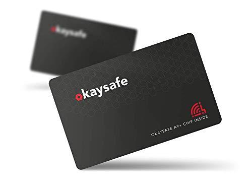 RFID Blocker Karte A9+ [bis zu 10cm Reichweite] 1 Karte = 100% RFID Schutz vor Datendiebstahl für Kreditkarten & Ausweise - NFC Blocker Schutzkarte - Militär Störsender Technologie 2020