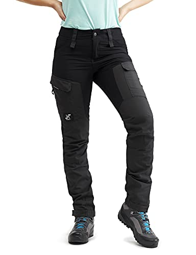 RevolutionRace RVRC GP Pants, Pantaloni da Donna, durevoli per Trekking e Altre attività allAria Aperta, Jet Black, 36