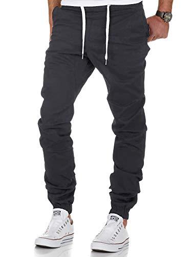 AitosuLa Herren Jogginghose Baumwolle Freizeithose Sport Slim Fit Trainingshose Sweatpants Jogger Pant (Grau, X-Large)