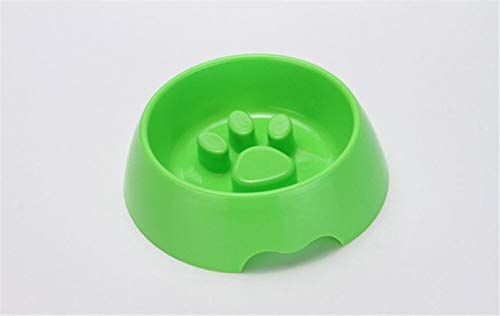 TUOF Pet Dog Slow Feeder Hundefutter Schüssel Durable Abs Food Gemüse Footprint Bowl, Grün, One Size