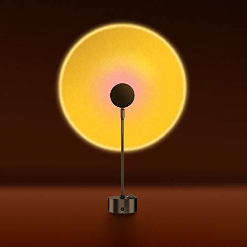 サンセットライト 日の投影 太陽のライト プロジェクター ナイトライト 夕焼け 雰囲気作り 90度折れ可能 夕陽ランプ 撮影ライト プラネタリウム ロマンチック 写真撮り おもしろい 子供 大人 楽しい パーティー 寝室 リービングルームに適用 プレゼント