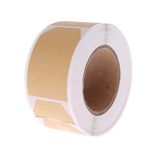 JIAY - Etiqueta autoadhesiva de kraft natural adhesiva, rollo de regalo para manualidades, tarjetas decorativas para la cocción de bodas, cumpleaños, embalaje de sellado