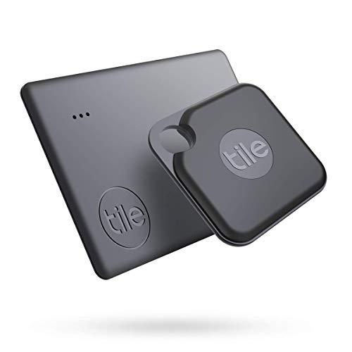 Tile Pro + Slim (2020) Set, buscador de Objetos Bluetooth, Pack de 2 (1 Pro, 1 Slim). Compatible con Alexa y Google Smart Home, iOS y Android. Busca Llaves, Carteras, mandos a Distancia y más