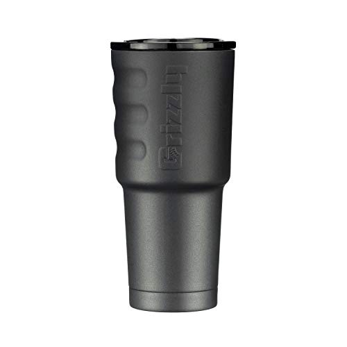Grizzly Grip Cup 32 oz Tumbler, Stainless Steel, Vacuum Insulated with TwistTop Lid, Charcoal
