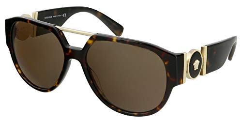 Versace 0VE4371 Gafas, DARK HAVANA/BROWN, 58/16/140 Eyewear