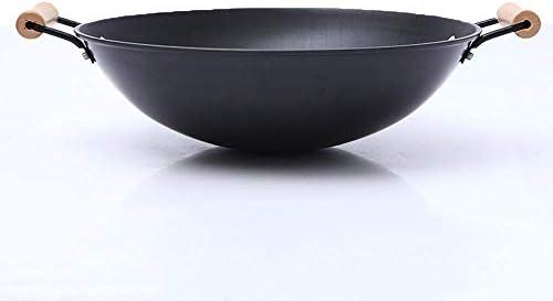 PZXY Woks Fond rond Creative Wok casserole cuisine Wok antiadhésif sans fumée