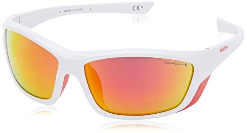 ALPINA Sonnenbrille Glacier FLEXXY Tour cm+ Sportbrille, White-Red, One Size