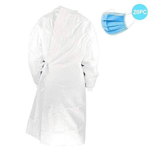 Best Bargain 【US Stock】Surgery Disposable Gown, Protective Gown ReUSable,Xlarge Disposable Gowns...