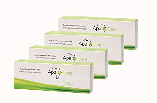 4x Apa Care remineralisierende Zahncreme 75 ml Flüssiger Zahnschmelz Zahnpasta