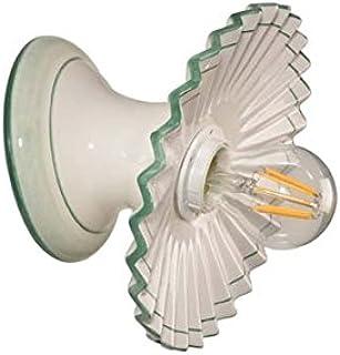 VANNI LAMPADARI - Lampada Da Parete art.001/386 In Ceramica Decorata A Mano Piatto Diametro 20 Plisse Disponibile In 5 Fin...