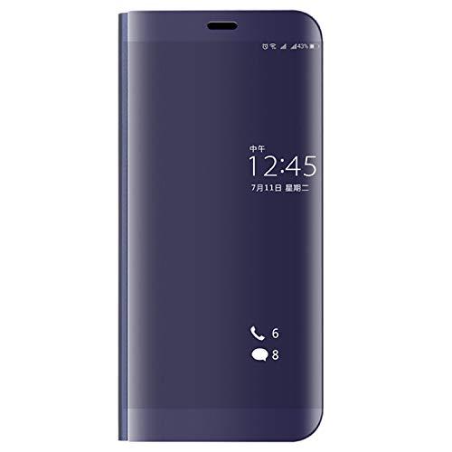Las Fundas de teléfono LYNHJCCell Caja del teléfono móvil for Huawei P10 Plus galvanoplastia PC + PU Horizontal Flip Funda Protectora con el sostenedor y el sueño/la función de Encendido (Negro)