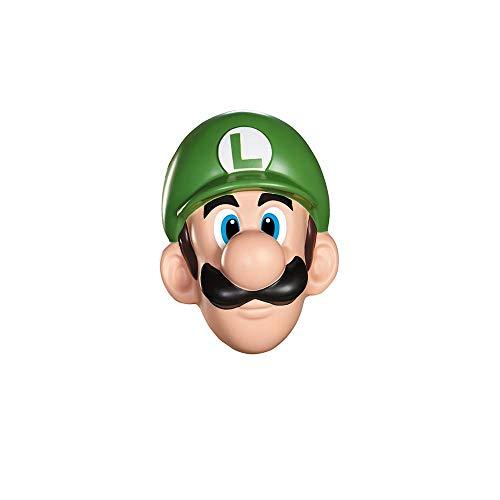 SUPER MARIO Luigi 13384 – Masque pour Adultes, Vert, Taille Unique