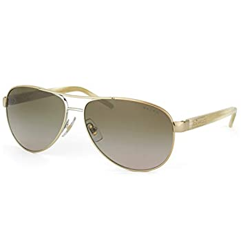 Ralph By Ralph Lauren RL-RA4004-101/13 Gold and Cream with Brown Gradient Lenses Women s Sunglasses