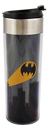 Batman Travel Mug Skyline / Kaffeebecher aus Kunststoff & Edelstahl
