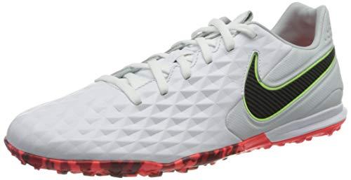 Nike Legend 8 PRO TF, Scarpe da Calcio Unisex-Adulto, White/Black-Grey Fog-BRT Crimson-Ghost Green, 43 EU