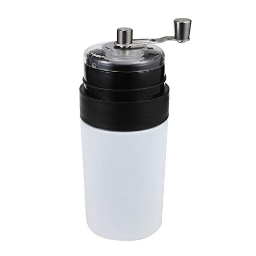 Multifunctional Manual Coffee Grinder Vacuum Cup All in One Ultra Outdoor Portable Coffee Brewer with Vacuum Sealed Tumbler Cup,White
