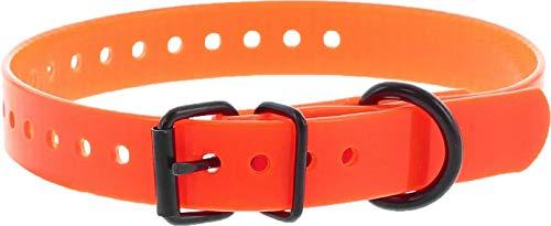 Collar Perro Naranja Poliuretano 60cm hebilla simple, 15agujeros, gravable (ver las detalles)