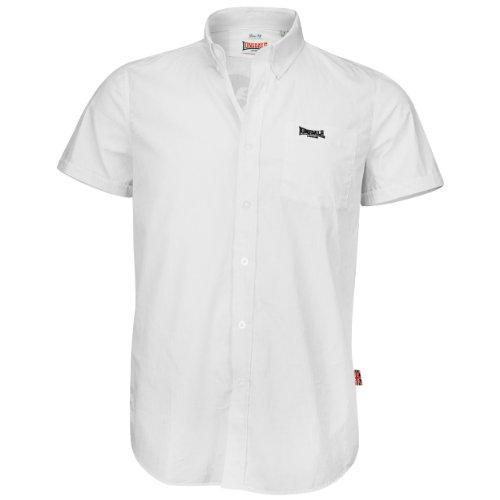 Lonsdale Herren Langarmshirt Hemd Slim Fit Acton Shirt Short Sleeve weiß (weiß) X-Large