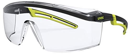 Uvex Arbeitsschutzbrille/Bügelbrille 9164 astrospec 2.0, lime/schwarz, Scheibe: farblos, 2-1,2