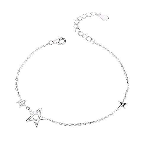 BACKZY MXJP Halskette Fashion Star Styling Armband Female Temperament Fashion Set Diamant Armband Einfache Fünfzackige Star Armband Schmuck