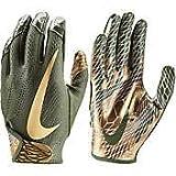 Nike Youth Vapor Jet 5.0 Football Gloves (Olive/Olive/Metallic Gold, Medium)