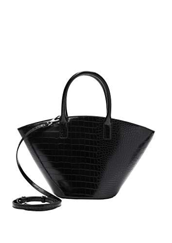 s.Oliver RED LABEL Damen City Bag in Reptilleder-Optik black 1