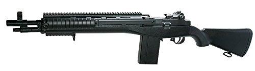Double Eagle Fucile Softair Manuale a Molla M305/M14 Potenza: 0,5 Joule, Colore:Nero