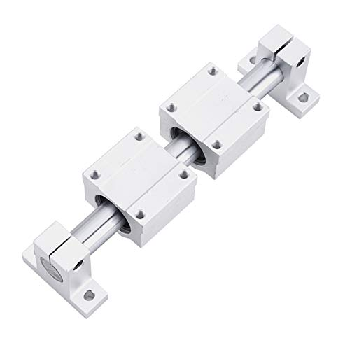 High accurate Linear Rail Slide support for optical guide rail Shaft With Guide Support Bearing Slip Motor for DIY CNC Routers Mills Lathes ( Color : 16mm diameter , Guide Length : 350mm )