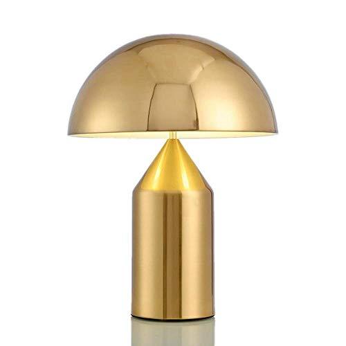 NICEAPR Lámpara de Escritorio Lámpara de Mesa Mushroom, Arquitecto Moderno Lámpara de Mesa LED de 13,7 Pulgadas, decoración nórdica de Lujo de Metal Cromado, con luz Blanca cálida (Color:Peque?o, t