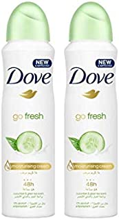 Dove Antiperspirant Deodorant Cucumber & Green Tea, 150ml (pack of 2)